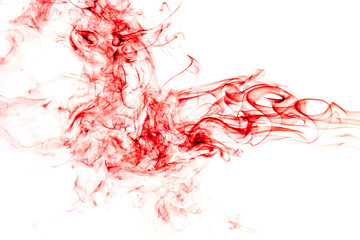 Fototapete - Red Smoke abstract background.