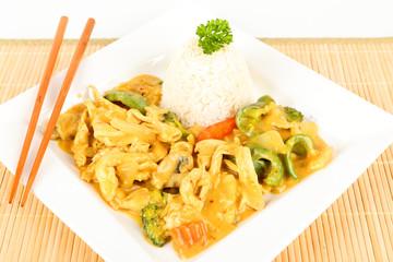 Asiatisches Hähnchen mit Curry