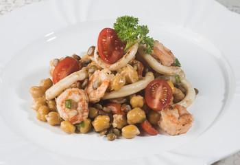 Plate of elegant meal