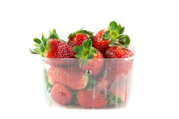 Cestello con fragole fresche