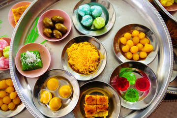 Variety of Thai sweets