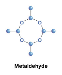 Metaldehyde is an organic compound. It is commonly used as a pesticide against slugs, snails, and other gastropods. It is the cyclic tetramer of acetaldehyde