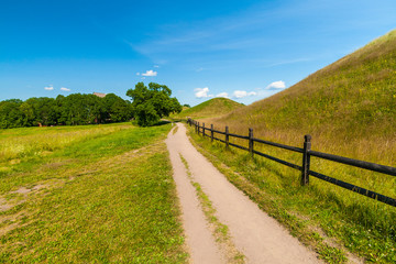 Gamla Uppsala, area rich in archaeological remains, Sweden