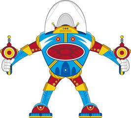 Cartoon Science Fiction Mecha Robot