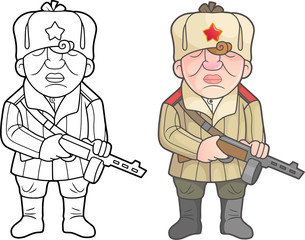Second World War soldiers of the soviet red army