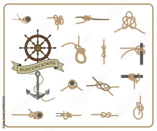 Nudos marineros stock image and royalty free vector - Nudos marineros decorativos ...