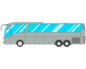 Modern bus on white isolated background. Vector illustration