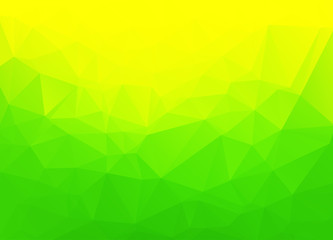 Abstract geometric background with vibrant green color tones.