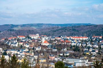 Panorama von Aue im Erzgebirge