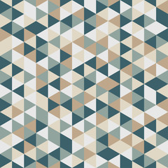 Seamless vector color triangles pattern.