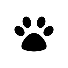 paw print isolated on white