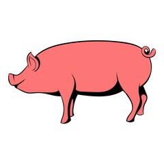 Pig icon cartoon