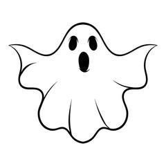 Halloween ghost icon cartoon