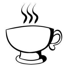 Cup of coffee or tea icon cartoon