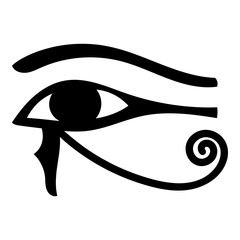 Eye of Horus icon cartoon