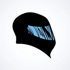 Motorcycle helmet. Vector drawing