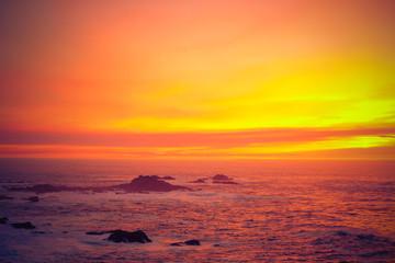 Sunset on the California Coastline