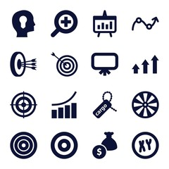 Set of 16 marketing filled icons