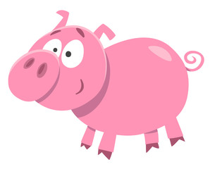 cute pig farm animal character