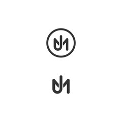 JM or MJ logo Monogram