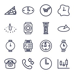 Set of 16 dial outline icons