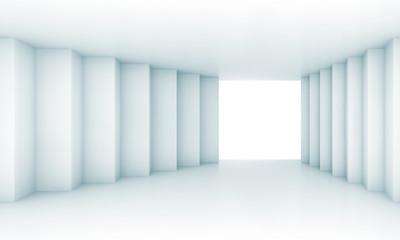 Abstract wide corridor perspective