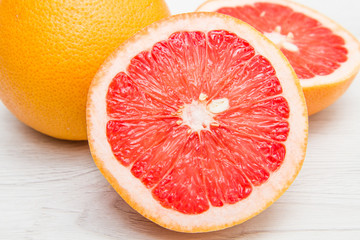 group of fresh grapefruit