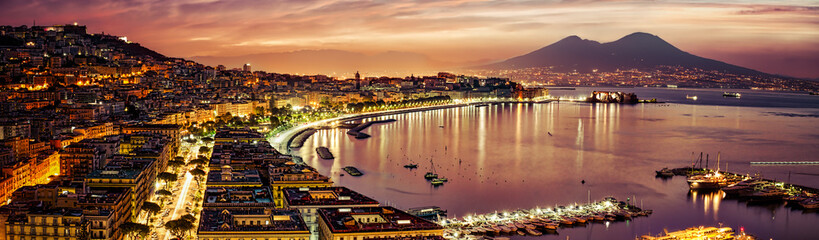 Photo sur Plexiglas Naples Naples Pano