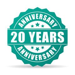 20 years anniversary celebration icon