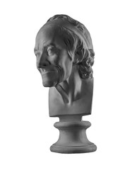 plaster statue of the bust of an old man