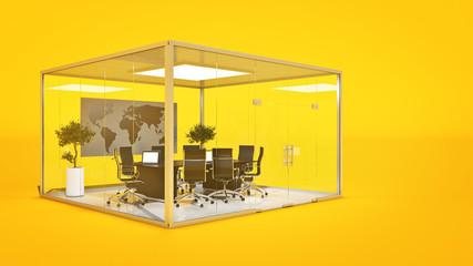 office panorama. 3d rendering