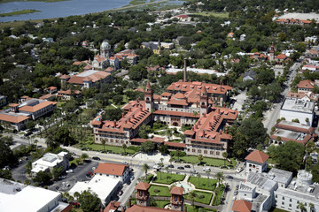 Flagler College St Augustine Aerial View