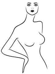 Abstract female outline