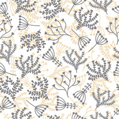 Cute seamless pattern. Floral stylish background