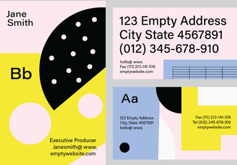 Bold Business Card Set