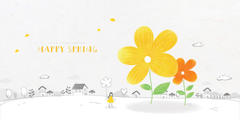 Lovely Spring Illustration
