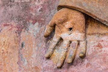 hand with the stigmata