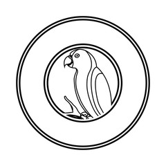 cute parrot mascot icon vector illustration design