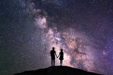 couple with night scene