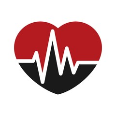 hearth pulse logo vector.