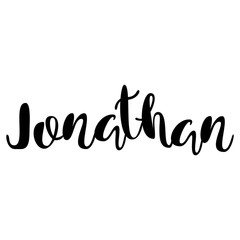 Male name - Jonathan. Lettering design. Handwritten typography. Vector