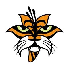 lily tiger logo template. logo vector.