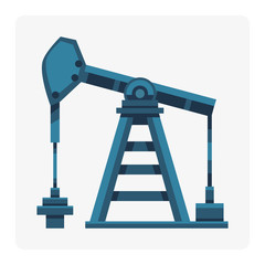 Oil industry production station extracting cartoon icon energy processing platform petroleum drilling technology factory design vector illustration.
