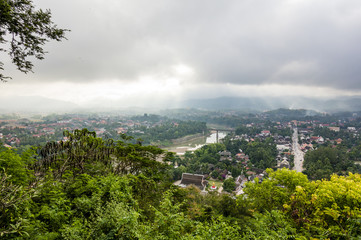 Luang Prabang cityscape view from Mount Phousi (Phou si), Laos