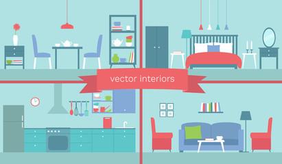Vector set of interiors
