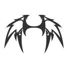 Devil Wing Vector Tattoo