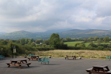 Galty Mountains Range Landscape Tipperary Ireland