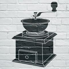 Art urbain, moulin à café