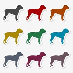 Dog icon vector silhouette - Illustration