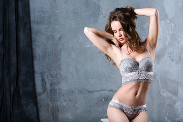 Alluring woman in lingerie.